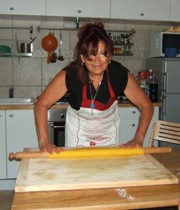 Adele rolling pasta